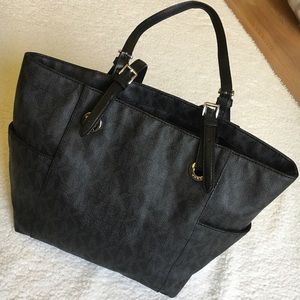 Michael Kors canvas leather tote